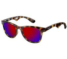 Óculos de Sol Carrera Unissex Havana com Lente Vermelha Dobrável - CARRERA6000/FD