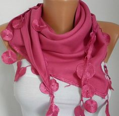 Women Pashmina  Scarf   Cotton Scarf  Headband  Cowl by fatwoman, $17.00