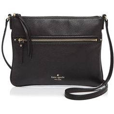 kate spade new york Cobble Hill Gabriele Crossbody (1 600 SEK) ❤ liked on Polyvore featuring bags, handbags, shoulder bags, black, crossbody handbags, kate spade purses, kate spade, kate spade handbag and crossbody purse