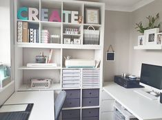Home Office Design, Home Office Decor, Space Crafts, Craft Space, Small Craft Rooms, Small Home Offices, Craft Room Design, Cricut Craft Room, Room Planning