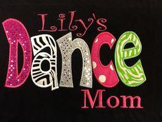 Fun Sparkle dot Dance mom, grandma, nana, aunt shirt on Etsy, $35.00