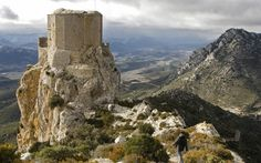 CATHAR CASTLES These gaunt fortresses are relics of the brutal crusade launched by the Catholic church and northern French nobility against the heretic Cathars.