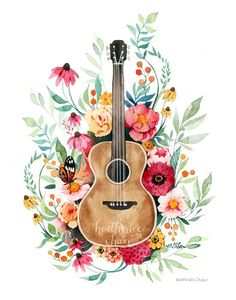Guitar And Flowers Art Watercolor In Products - Guitar And Flowers Art Watercolor May Guitar And Flowers Art Watercolor Guitar Drawing Guitar Painting Ukulele Art Guitar Art Violin Watercolor Tips Watercolor Flowers Watercolour Painting Guitar Drawing, Guitar Painting, Ukulele Art, Guitar Art, Guitar Tattoo, Tattoo Music, Art Watercolor, Watercolor Flowers, Art Flowers