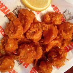 BUFFALO SHRIMP Hooters Copycat Restaurant Recipe Shrimp: 20 large shrimp, peeled, deveined 1 egg, beaten 1 tablespoon sandwich mu. Hooters Buffalo Shrimp Recipe, Best Shrimp Taco Recipe, Buffalo Shrimp Recipes, Baked Shrimp Recipes, Shrimp Salad Recipes, Wonton Recipes, Spicy Recipes, Seafood Recipes, Cooking Recipes