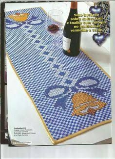 Risultati immagini per bordado em tecido xadrez