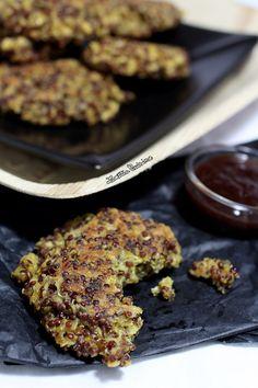 Croquettes au quinoa rouge, flocons d'avoine et curry ... Avec une bonne salade verte ... Le tour est joué !