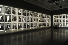Grid of images - Karl Lagerfeld on the Little Black Jacket Exhibition in NY - Touring photography project by the famed designer from House of Chanel. I Love the way this gallery looks. Museum Exhibition Design, Exhibition Display, Exhibition Space, Design Museum, Exhibition Ideas, Photography Exhibition, Photography Gallery, Photography Projects, Street Photography