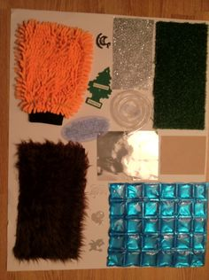 DIY Sensory Board: I especially like the Evergreen Air-Freshener