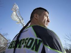 Saskatchewan Rush player Jeremy Thompson poses for a photograph before running a lacrosse clinic at the Henk Ruys Soccer Centre on Friday, March Soccer Center, Lacrosse Sticks, Before Running, Culture, Poses, Clinic, Photo Ideas, Photograph, March