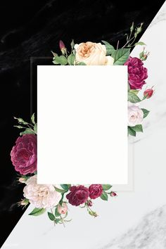 Photo Frame Wallpaper, Framed Wallpaper, Flower Background Wallpaper, Flower Backgrounds, Iphone Wallpaper, Hd Backgrounds, Rose Illustration, Frame Floral, Flower Frame