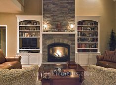 Stone Fireplace Pictures Built Ins Fireplace; built-ins; stone