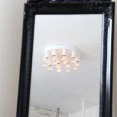 Modern plafonnier in white metal with 13 bulbs // Katarina Dahl - Sessak Scandinavian Kitchen, Wall Design, Oversized Mirror, Chandelier, Ceiling Lights, Modern, Vit, Inspiration, Dahl