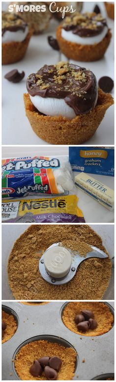 Amazing S'mores Cups. A different take on s'mores if you're sick of seeing s'mores pops.