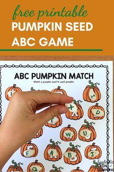 Pumpkin Seed ABC Game
