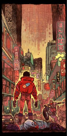 """Akira (1988) Director: Katsuhiro Otomo - To quote the book: """"... animated masterpiece is the pinnacle of Japanese Apocalyptic science fiction."""" I saw this at a sci-fi con the year it came out, subtitled, and it remains one of my favorite anime films.  Rewatched it recently and I still love the imagery.  """" I... am Tetsuo."""""""