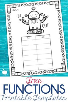 Functions machines, in and out boxes, and algebraic rules are all names for the same set of skills. Students in primary classrooms can practice identifying and applying algebraic rules using these free printables! They are perfect for math centers or the introduction in your math lesson.  Building algebraic thinking in the primary grades helps build number sense and fact fluency while students apply the basic operations. #1stgrade #2ndgrade #functions