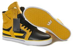 Supra Skytop II Leather Mens Gold Black This site sells  shoes half off!