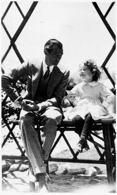 Gary Cooper and Shirley Temple in Now and Forever, 1934.