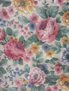 Peonies and Tulips Floral English Chintz | GR2Design on Etsy