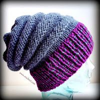 Free pattern This simple Knit Slouchy Hat using chunky yarn. This is a unisex hat for Adults. One size will fit up to head circumference. Like the rib but not garter stripes! Knit Slouchy Hat Pattern, Beanie Knitting Patterns Free, Crochet Newsboy Hat, Easy Crochet Hat, Knitting Blogs, Free Knitting, Knitted Hats, Knit Patterns, Slouch Hats