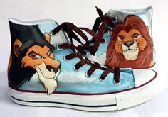 Lion King Shoes Hand Painted Custom Converse by MasalShoesShop