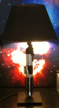 diy light saber lamp
