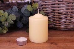 Κεριά Κυλινδρικά Εκρού Φ7x10εκ Pillar Candles, Taper Candles