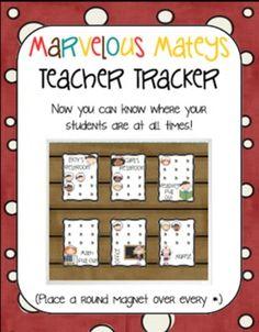 Marvelous Mateys Teacher Tracker: A Pirate Themed Classroo