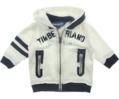 Timberland Baby Boys Ivory Branded Zip Up Top With Hood