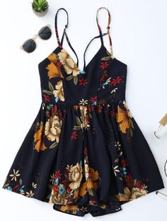 SHARE & Get it FREE | Floral Criss Cross Romper - FloralFor Fashion Lovers only:80,000+ Items • New Arrivals Daily Join Zaful: Get YOUR $50 NOW!