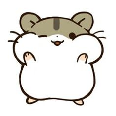 """This stamp name is """"hamstamp"""".Let's enjoy LINE life with round hamsters. This stamp name is """"hamstamp"""".Let's enjoy LINE life with round hamsters. Cute Kawaii Animals, Cute Animal Drawings Kawaii, Cute Easy Drawings, Mini Drawings, Cute Little Drawings, Cute Cartoon Drawings, Disney Drawings, Griffonnages Kawaii, Arte Do Kawaii"""