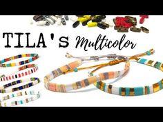(616) Miyuki Tila Multicolor Bracelet - Beading Ideas - YouTube Beading Tutorials, Beading Patterns, Beading Ideas, Beaded Bracelets Tutorial, Handmade Bracelets, Bracelet Crafts, Jewelry Crafts, Bijoux Diy, Bracelet Designs