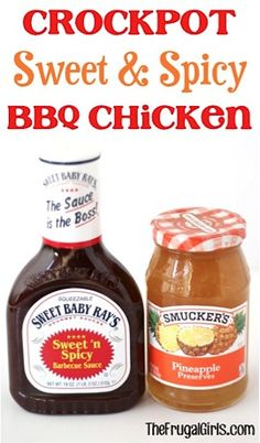 Crockpot Sweet and Spicy BBQ Chicken
