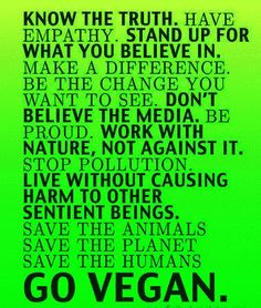 Vegan for the animals, earth, and health