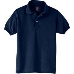 Hanes Kids Lightweight Comfortblend EcoSmart Jersey Polo, Boy's, Size: Medium, Blue