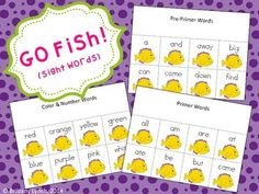 GO FISH (SIGHT WORDS) - my kids will love this game!