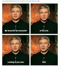 I am seriously so in love with Martin Freeman, it's not even funny.⬅I have the same fuckin problem, this just confirmed it yet again....almost couldn't stop laughing....God