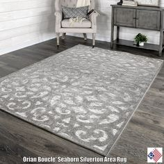 Our Boucle Indoor/Outdoor Seaborn designs light and lovely pattern grounds any room in style. An intricate design and elevated piling promises visual interest, while soft yarns feel comfortable on bare feet. Incredibly durable, this area rug...
