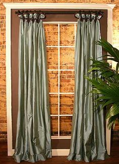Check Out Our Elegant Julie Anne Panels Curtain Sewing Pattern, Fully Lined & Interlined Valance, Adaptable To Various Window Widths, Perfect For Redecorating! French Doors Bedroom, French Door Curtains, French Doors Patio, Drapes Curtains, Curtains Living, Window Coverings, Window Treatments, Valance Patterns, Sewing Patterns