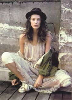 Daria Werbowy photographed by Paolo Roversi - Vogue UK: May 2007 - True Romance Daria Werbowy, Bohemian Mode, Boho Gypsy, Bohemian Style, Boho Chic, Vogue Uk, Looks Style, Looks Cool, Hippie Style