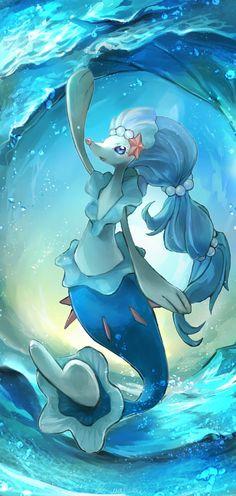 Primarina im Wasser von - Games - Pokemon Pokemon Team, Pokemon Fan Art, Pokemon Memes, Pokemon Cards, Pokemon Funny, Pokemon Stuff, Pokemon Fusion, Water Type Pokemon, Pikachu