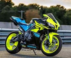 We love the bold colour choice on this 600RR, sometimes the best way to stand out is to be brave - Get your look at http://www.biketuna.co.uk