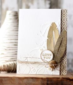 Love You feathers by limedoodle - Cards and Paper Crafts at Splitcoaststampers