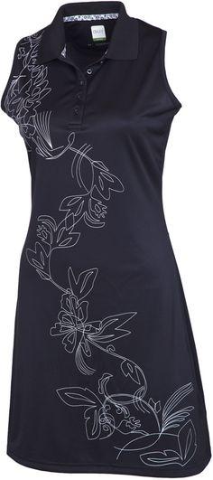Carbocool Black Sleeveless Golf Dress