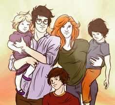 anxiouspineapples:potter family portrait