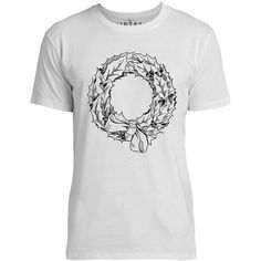 Mintage Christmas Wreath and Bow Mens Fine Jersey T-Shirt (White)
