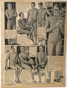 Men's Long Underwear 1927