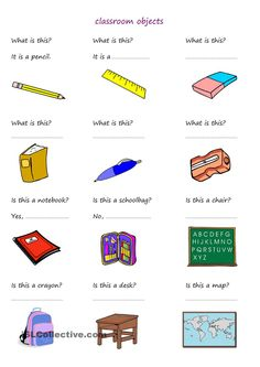 students answer questions about classroom objects - ESL worksheets Conversation Questions, Conversation Cards, Spanish Worksheets, Kindergarten Worksheets, Preschool Assessment, Classroom Activities, Elementary Spanish, Spanish Classroom, English Lessons