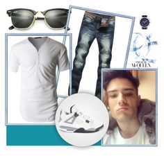 """""""Untitled #9"""" by drry-dccxc ❤ liked on Polyvore featuring Ray-Ban, Balmer, LE3NO, Jordan Brand, men's fashion and menswear"""