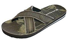 29d432d059fc Dunlop Men s Boy s Slip On Flip Flop Sandal Beach Pool Shoes Size 6 - 11  amazon